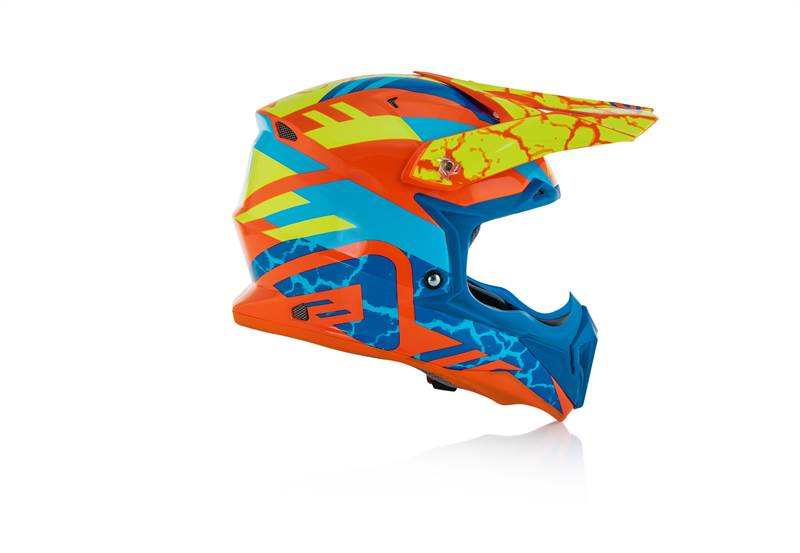 Casco Just1 cross enduro J38 BLADE Blue Fluo Yellow Gloss Black