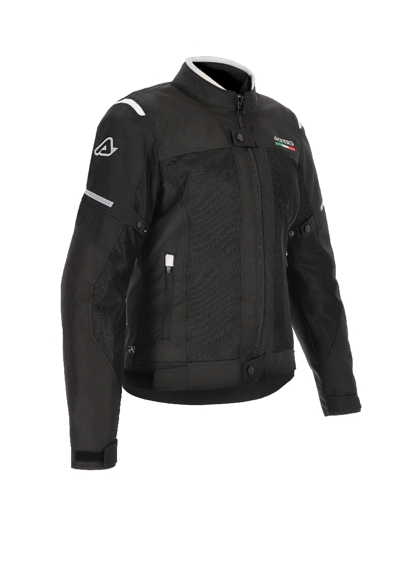 GIACCA MOTO DONNA ON ROAD RUBY LADY NERO BIANCO ACERBIS 1