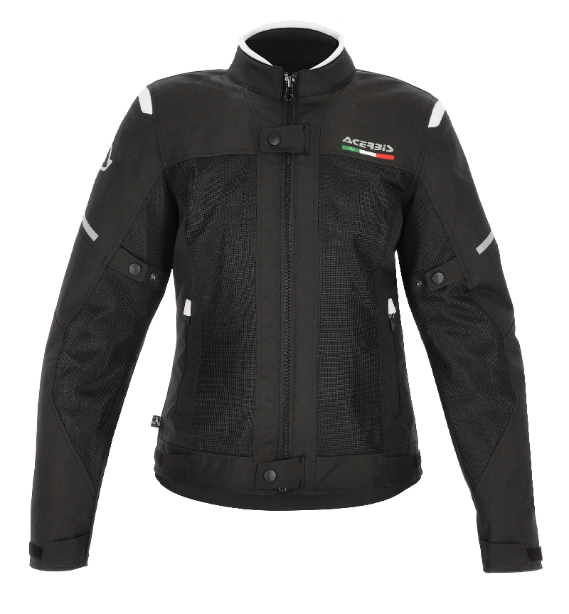GIACCA MOTO DONNA ON ROAD RUBY LADY NERO BIANCO ACERBIS 2