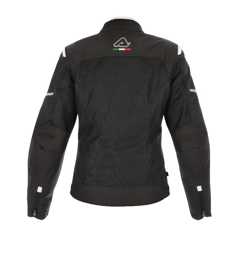 GIACCA MOTO DONNA ON ROAD RUBY LADY NERO BIANCO ACERBIS 3