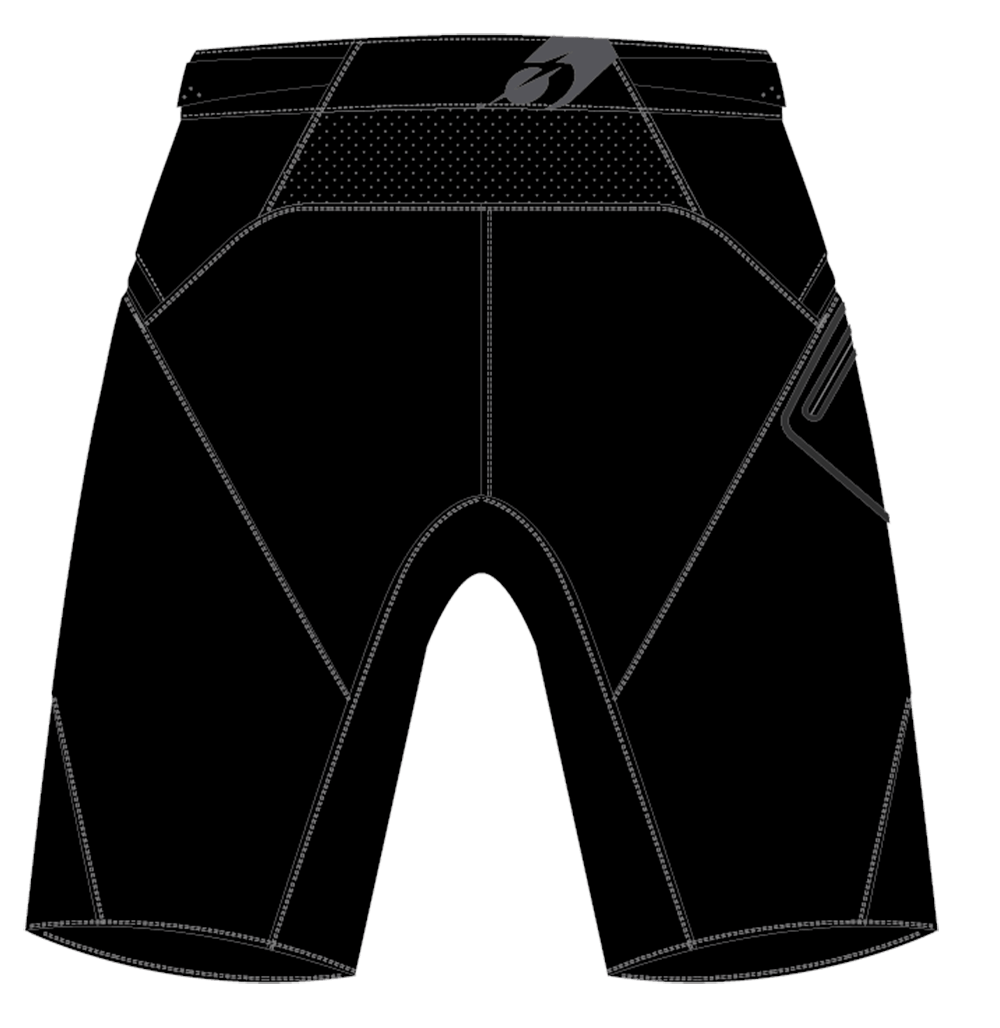 ALL MOUNTAIN MUD Shorts black 1