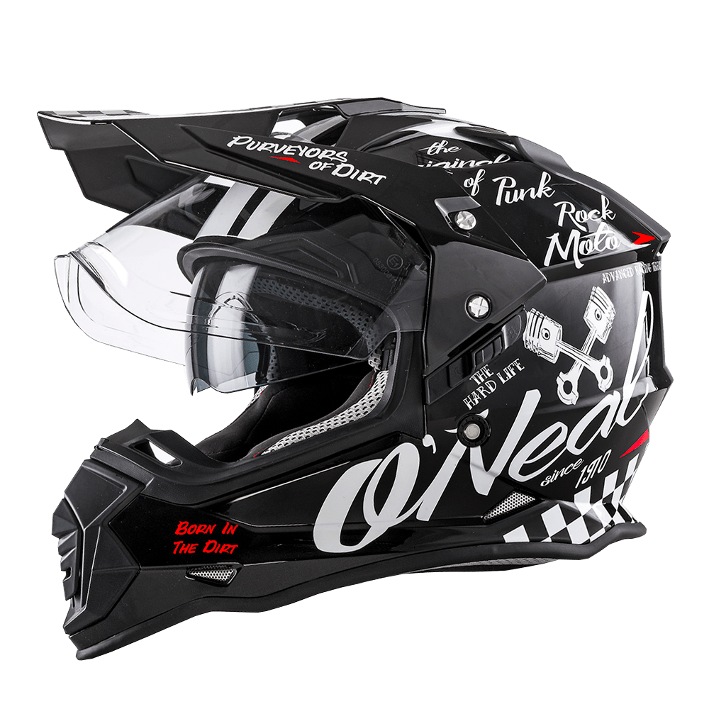 Casco cross Alpinestars S-M5 RAYON Light Grey Black Silver Matt