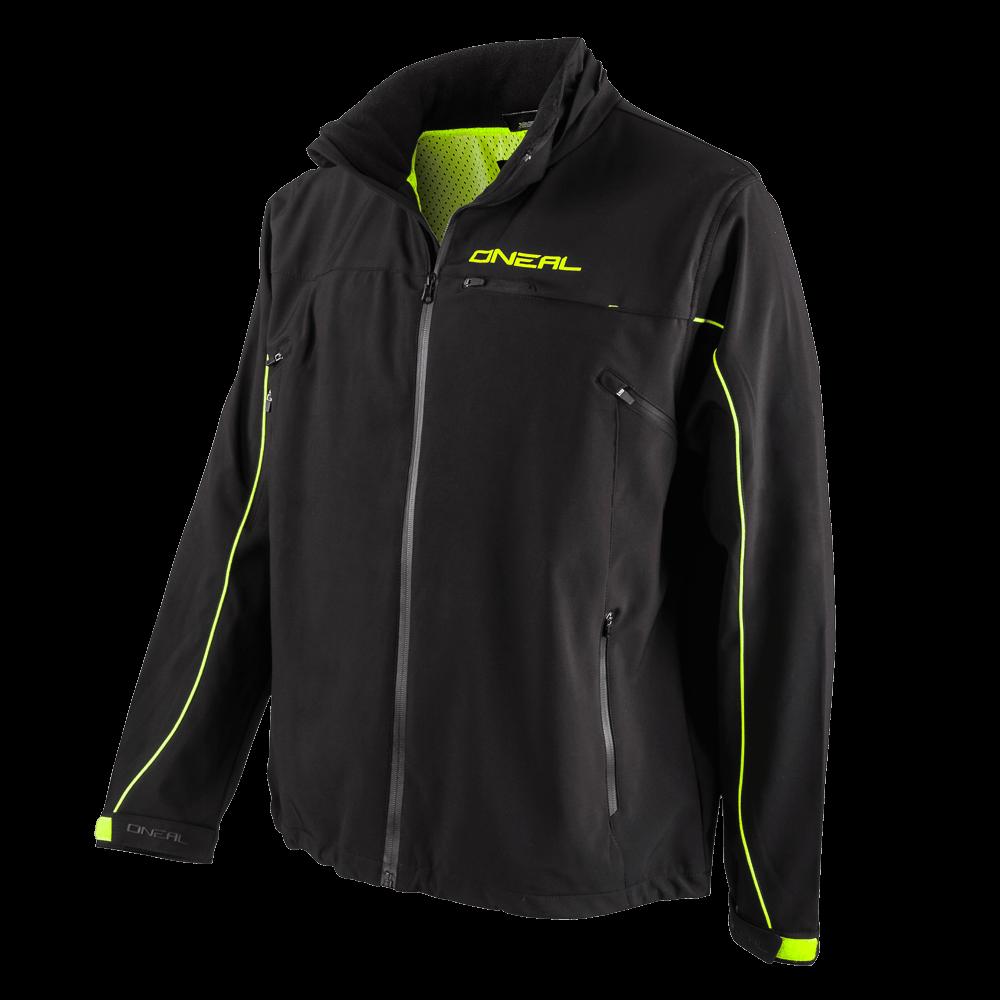 FREERIDER Soft Shell Jacket black/yellow 6