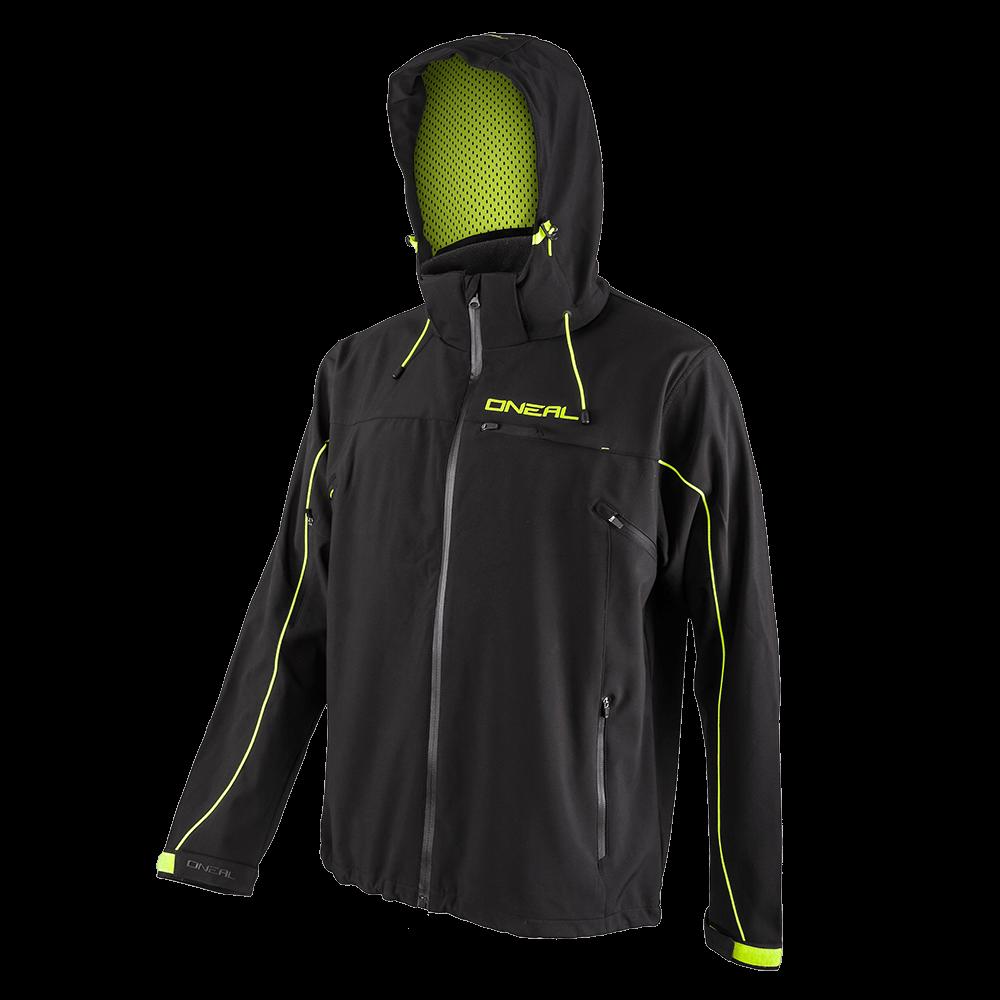 FREERIDER Soft Shell Jacket black/yellow 2