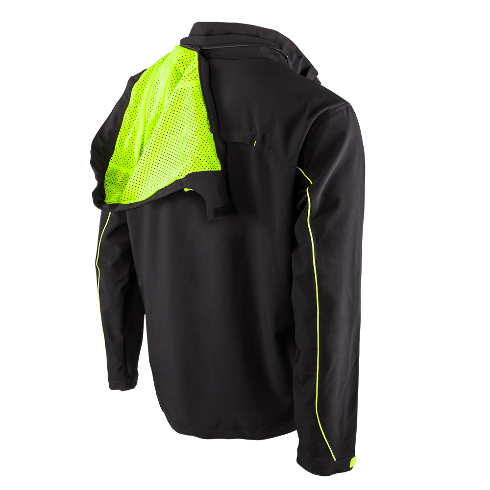 FREERIDER Soft Shell Jacket black/yellow 5