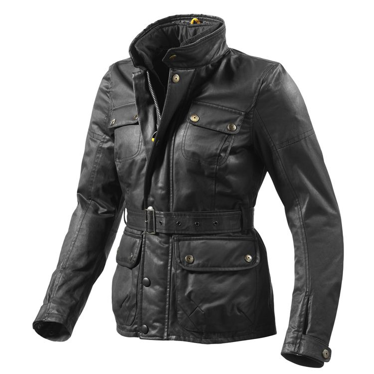 Giacca moto urbana Rev'it TRENCH GTX Nero