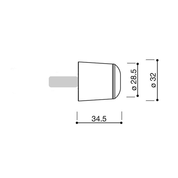 Terminali manubrio Rizoma (bilanceri) conici per Kawasaki cod.MA510 2