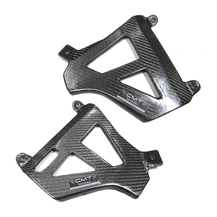 Protezione pompa freno posteriore in carbonio CMT per Kawasaki KXF 250 2013 2020  cod.000719