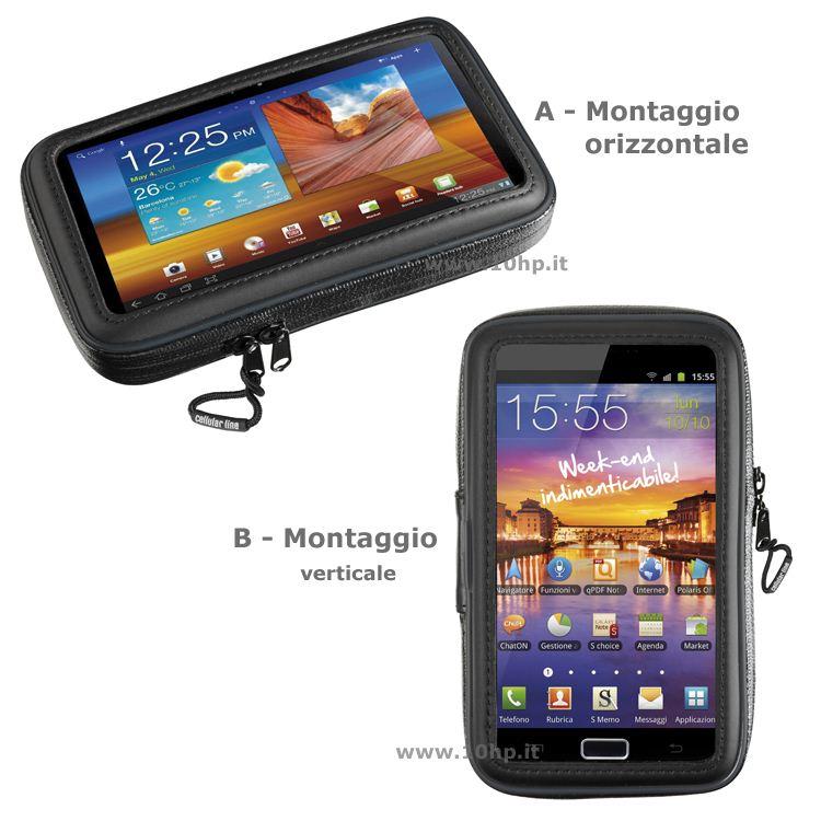 Porta IPhone 6 Plus da scooter per manubri scatolati Pro Case Cellular Line
