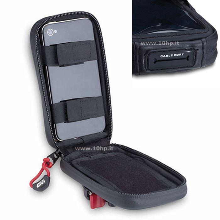 Porta IPhone 5 da moto per manubri tubolari S955B Givi 2