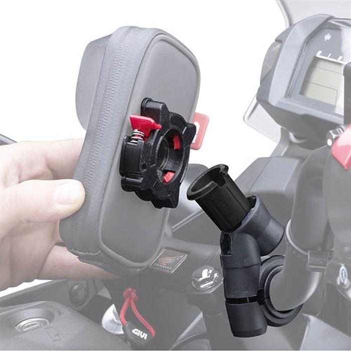 Porta IPhone 5 da moto per manubri tubolari S955B Givi 3