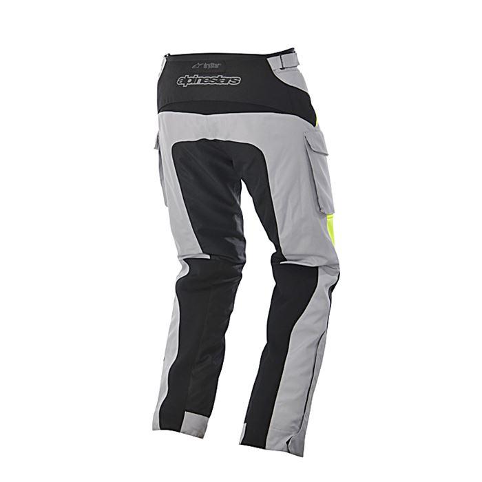 Pantaloni moto Alpinestars CALAMA Drystar grigio nero giallo fluo 2