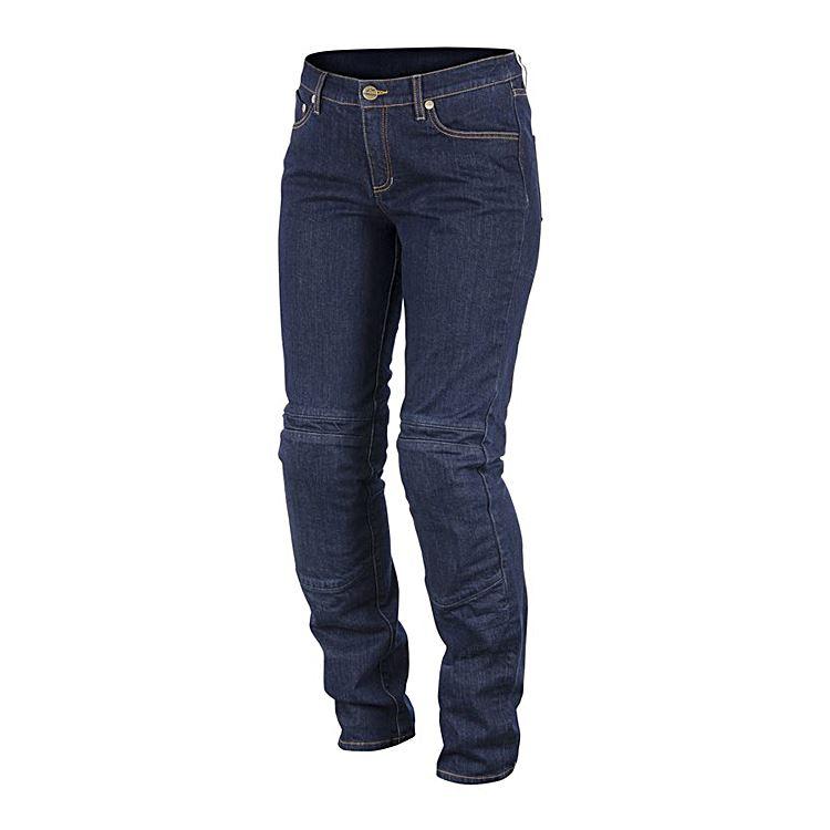 Jeans da moto Donna Alpinestars con protezioni Kevlar® KERRY TECH DENIM blue 1