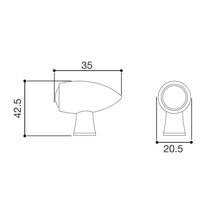 Freccia Rizoma CLUB L con Luce di Posizione Anteriore FR151B 2