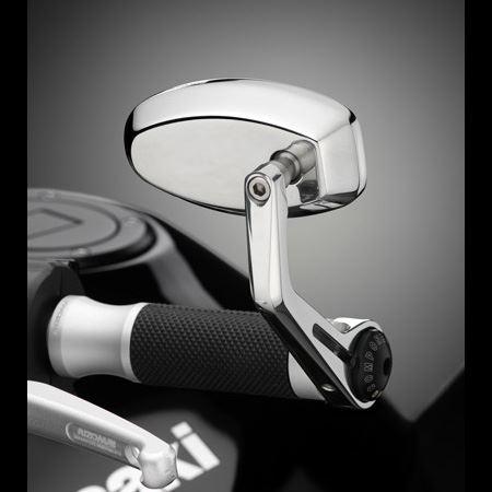 Specchio Rizoma REVERSE RETRO alluminio lucidato BS070L 2