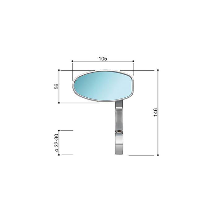 Specchio Rizoma REVERSE RETRO alluminio lucidato BS070L 3