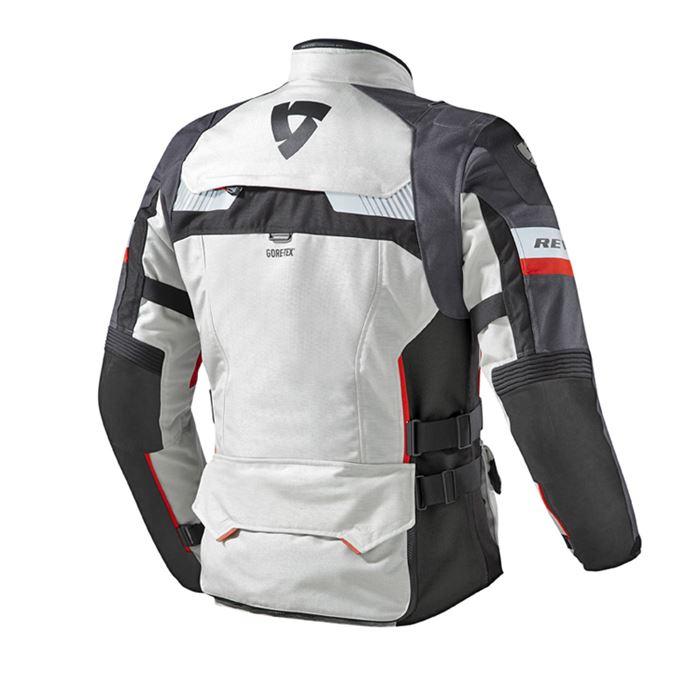 Giacca moto Rev'it DEFENDER PRO GORE-TEX® grigio chiaro-rosso 2