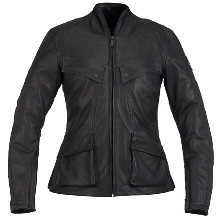 Giubbino moto pelle Spidi GARAGE PERFORATED Nero