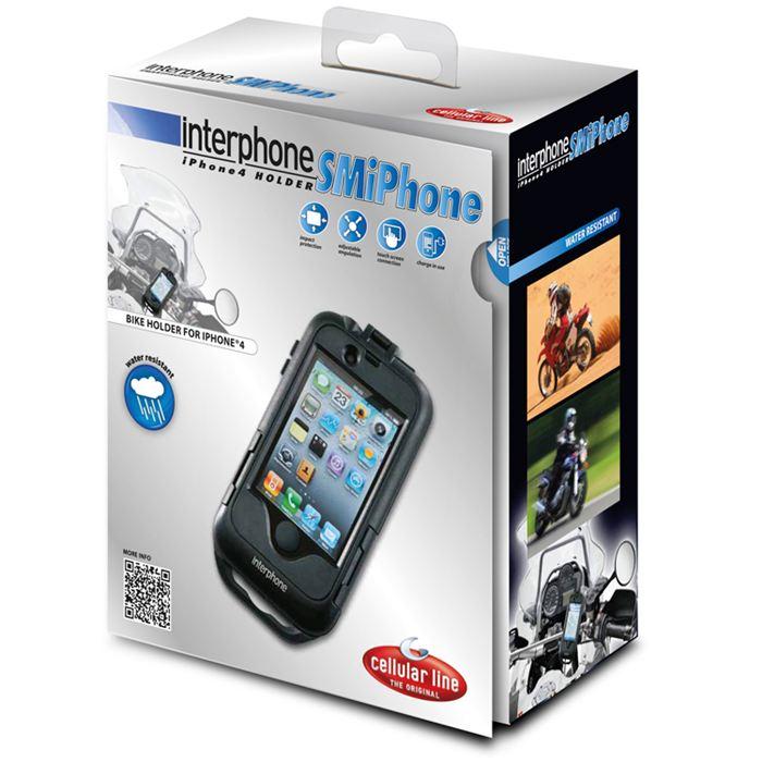 Porta IPhone 4 da moto per manubri tubolari Cellular Line 3
