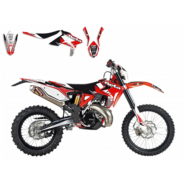 Kit grafiche Replica Team HONDA HRC 2017 per HONDA CR 125 250 CRF 250 450