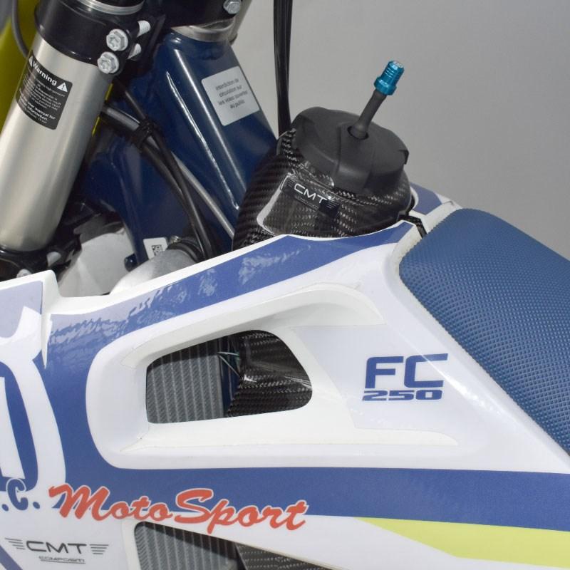 Cover di protezione serbatoio in carbonio CMT per Honda CRF 250 14-17 e CRF 450 13-16  cod.000130