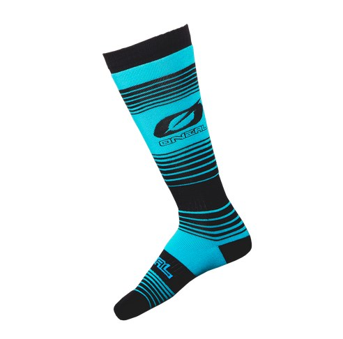 Calze O`Neal Pro MX Sock STRIPES teal/black (One Size) 1
