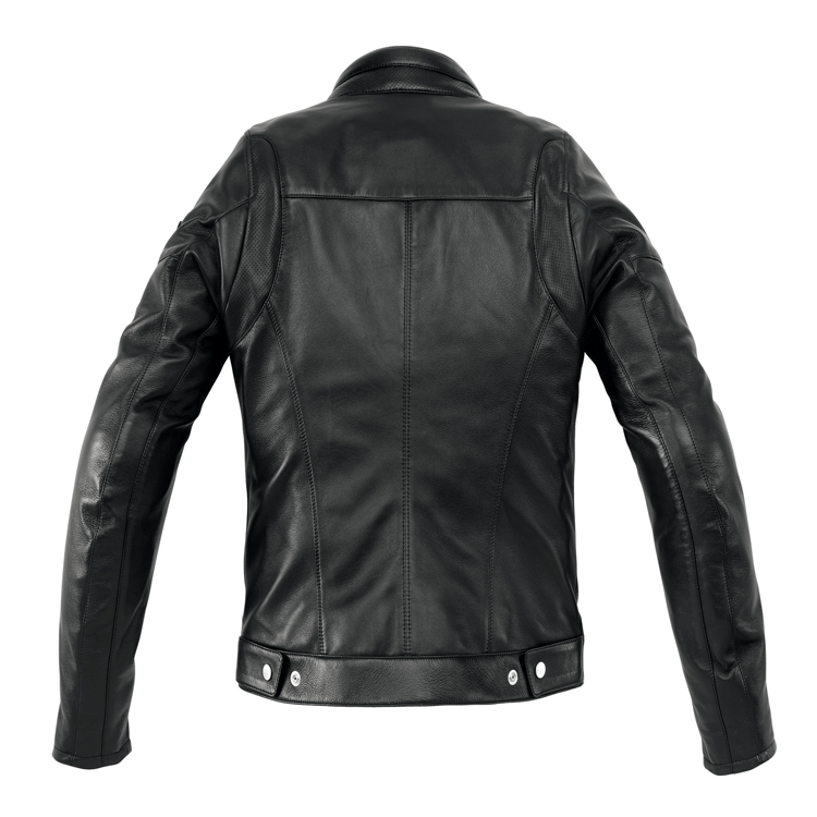 Giubbino moto pelle donna Spidi CAFE RACE nero 2