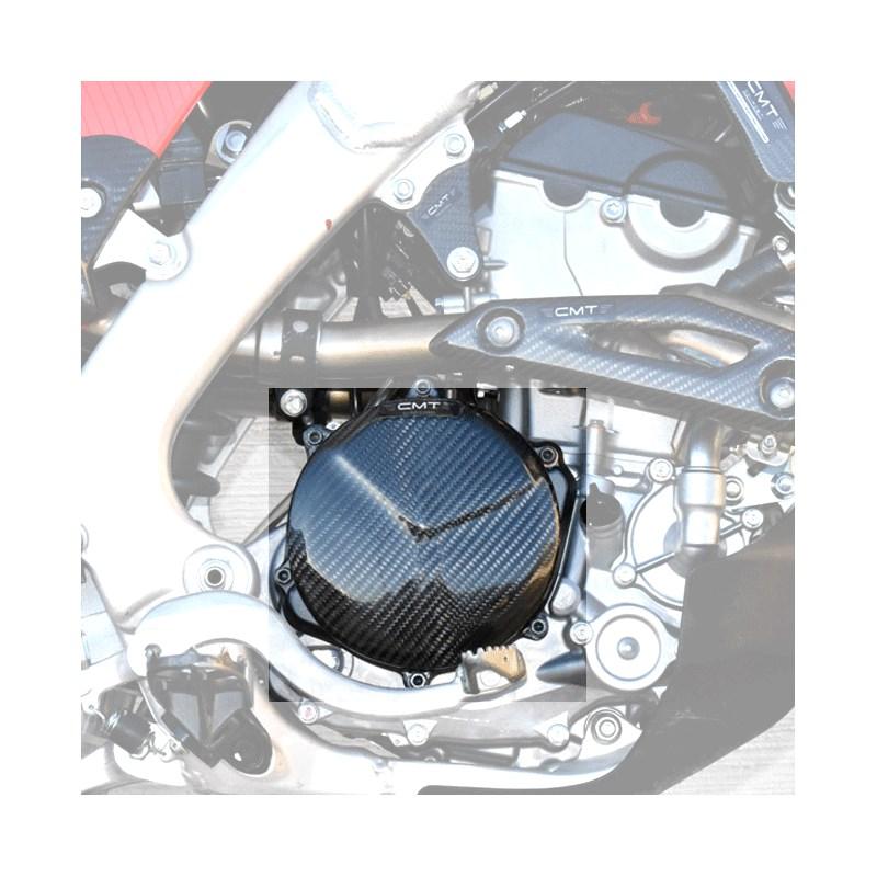 Protezione carter frizione in carbonio CMT per Yamaha YZF 450 2014 2015 2016 2017  cod.000428