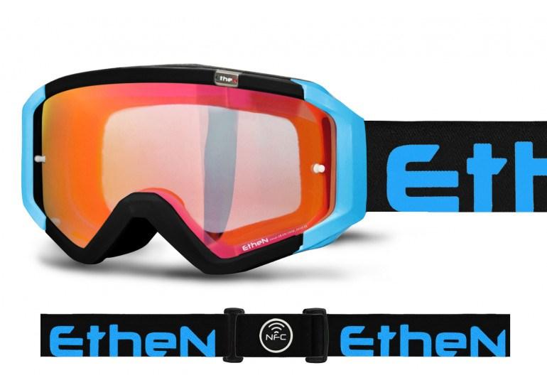 Occhiali (maschera) cross enduro Ethen 05 Nero Giallo Fluo MX0508