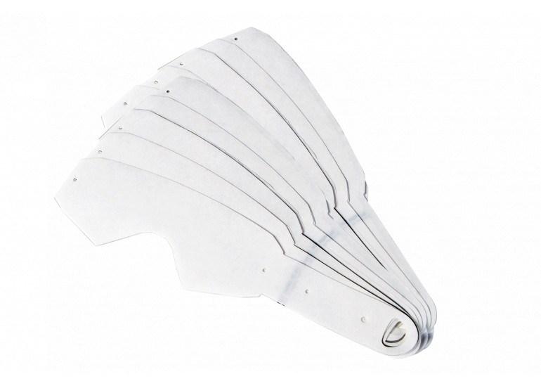 Occhiali (maschera) cross Roll Off Ethen 05 MUD Mask Bianco Nero