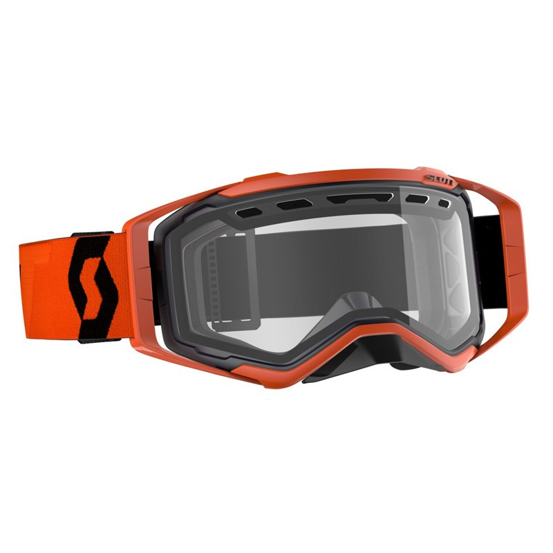 Occhiali (maschera) cross Scott PROSPECT ENDURO black orange lente chiara doppia ventilata 1