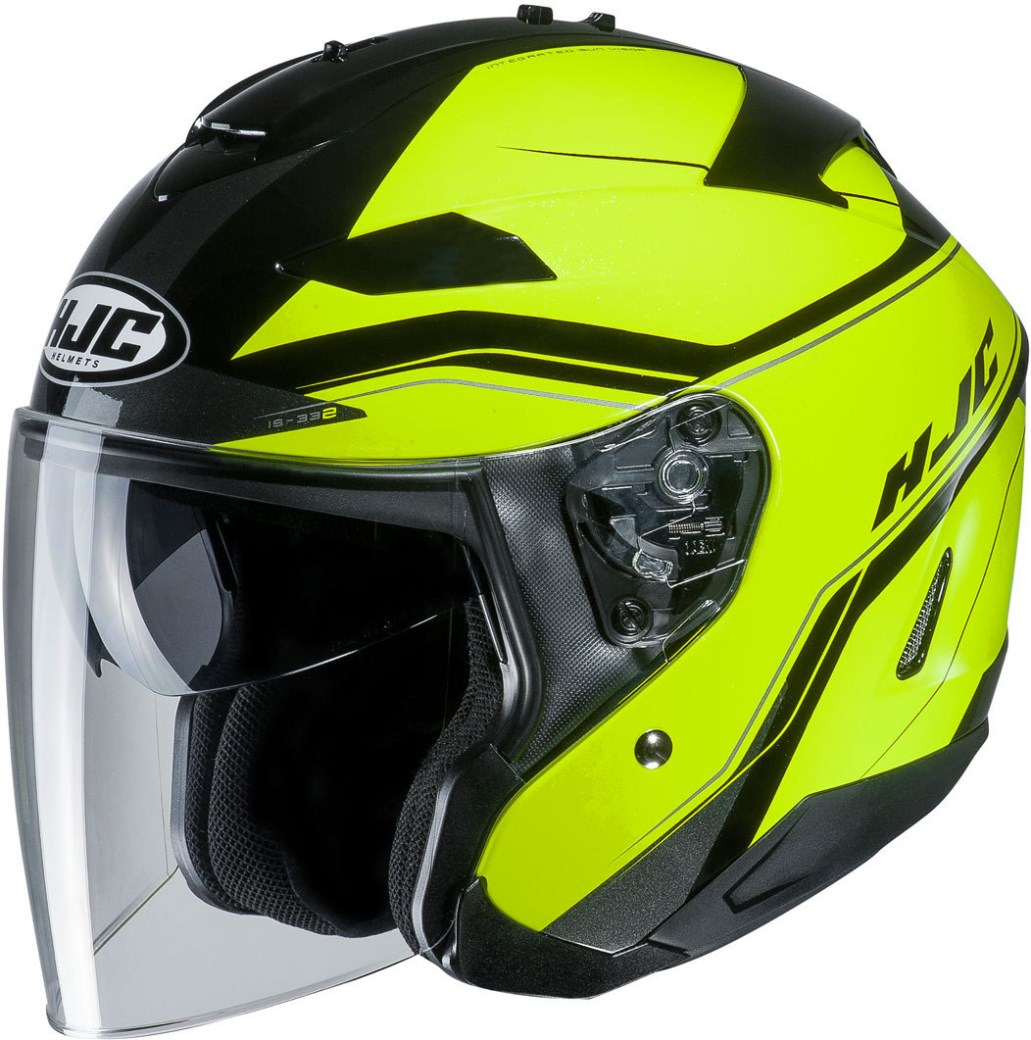 Casco jet Airoh HELIOS FLUO Black Yellow Gloss