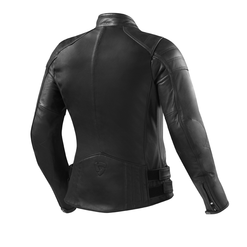 Giubbino moto pelle donna BELLECOUR nero Rev'it 2