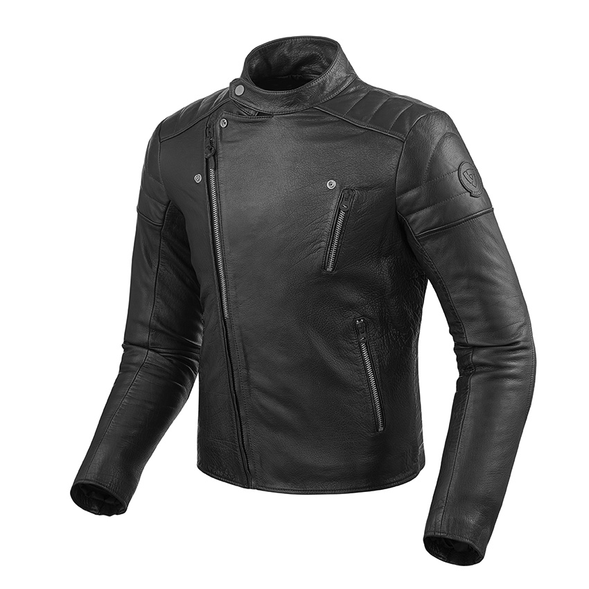 Giubbino moto pelle Rev'it ROSWELL Marrone scuro