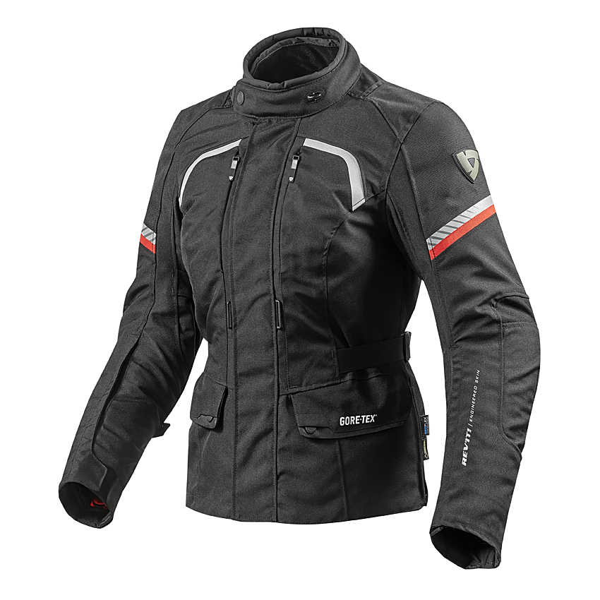 Giubbino moto Donna Spidi FLASH TEX LADY nero rosso