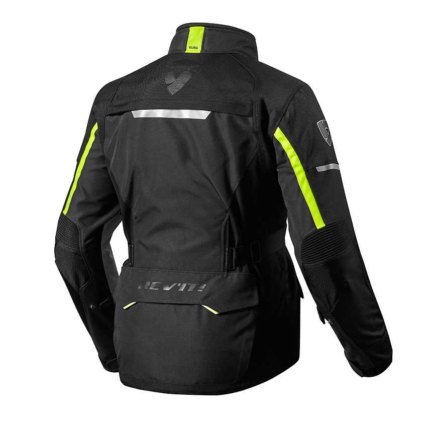 Giacca moto Rev'it OUTBACK 2 nero giallo neon 2