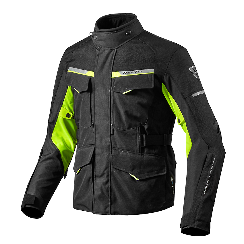 Giacca moto Rev'it OUTBACK 2 nero giallo neon 1