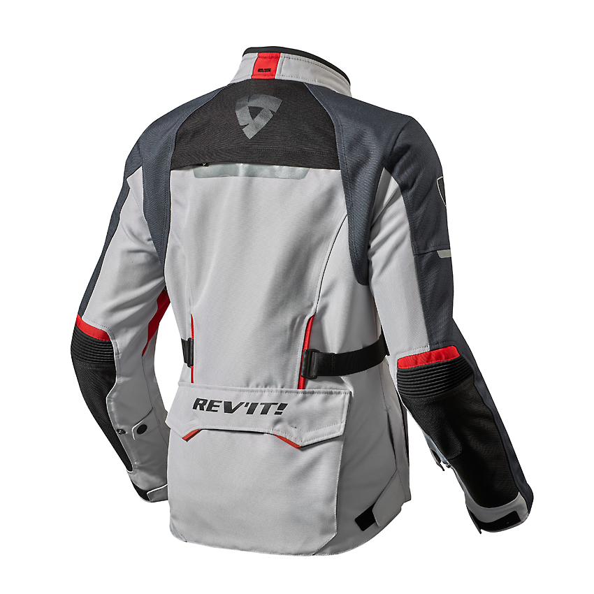 Giacca moto Rev'it OUTBACK 2 Donna argento rosso 2