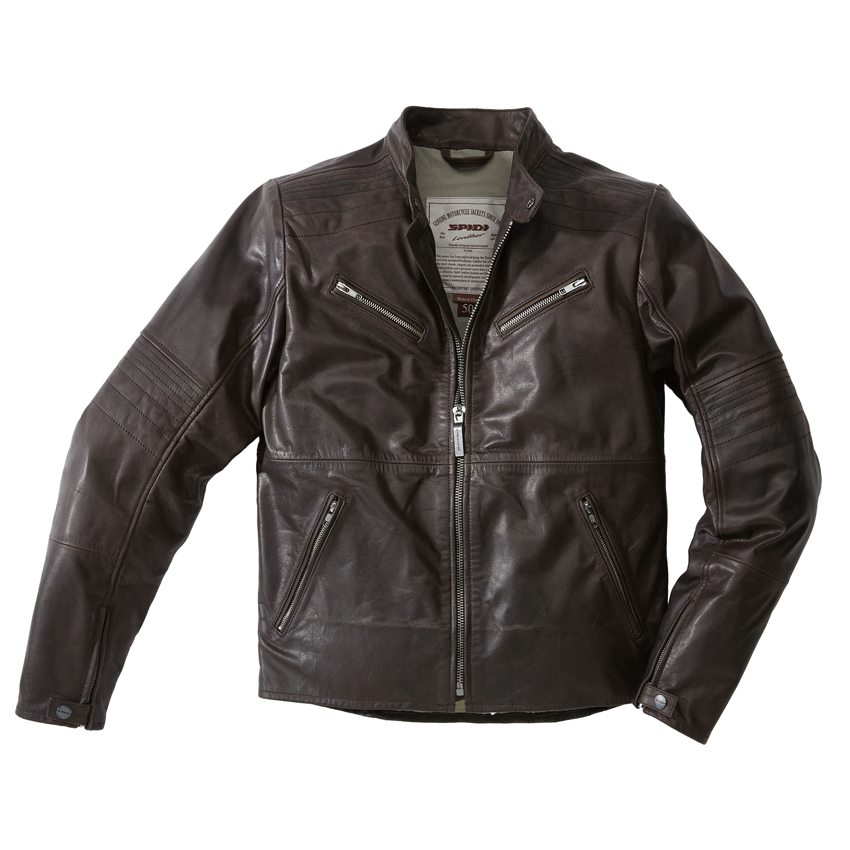 Giubbino moto pelle Rev'it AKIRA VINTAGE AIR marrone