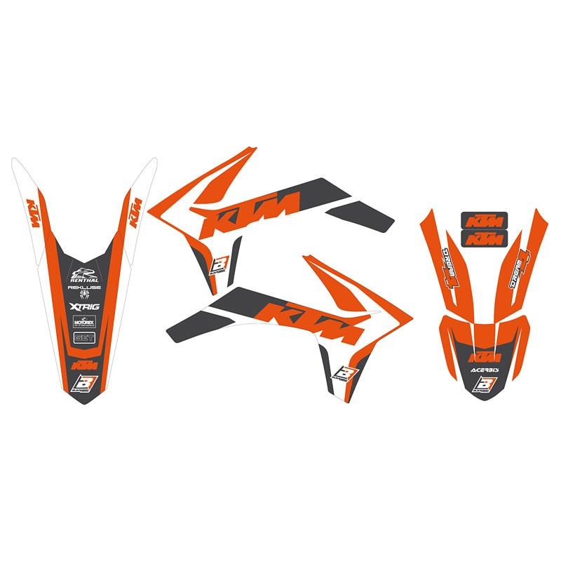 Kit grafiche DREAM 4 Blackbird per KTM SX SXF EXC EXCF FREERIDE 2