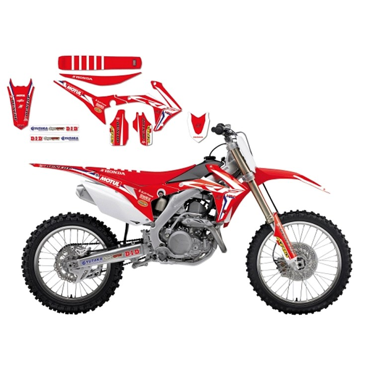 Kit grafiche Blackbird LINEAR per HONDA CRF 450 13-16 CRF 250 14-17