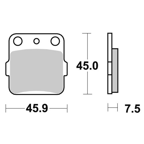 Pastiglie AP Gasgas  posteriori standard