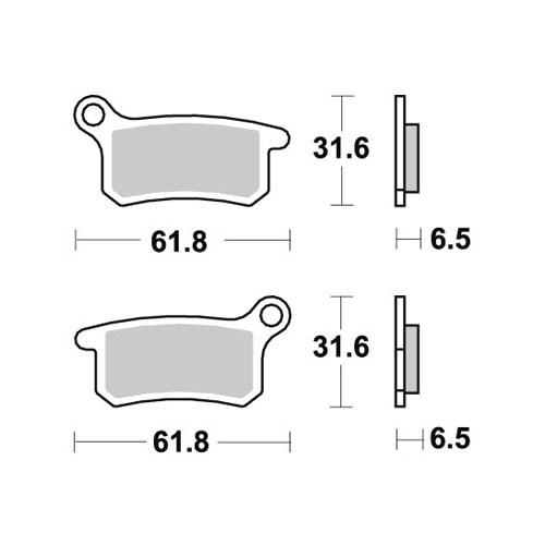 Pastiglie AP Yamaha  posteriori standard