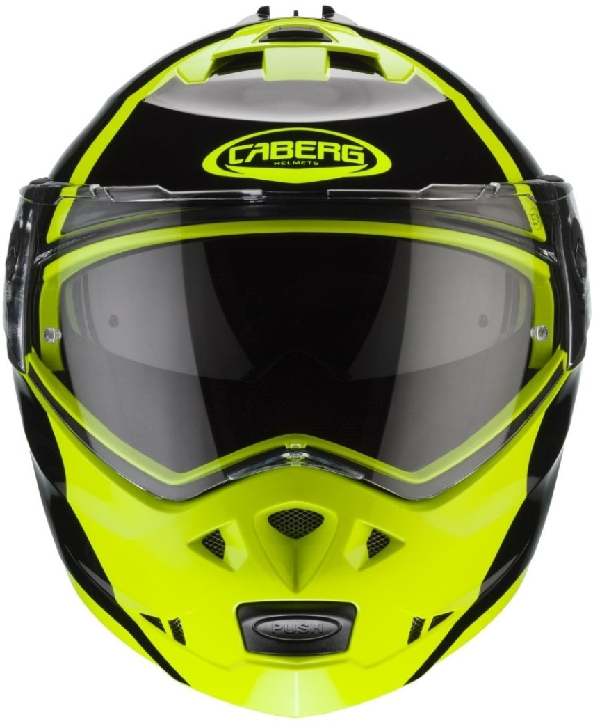 Casco modulare Caberg DUKE II Impact Yellow Fluo Black 1