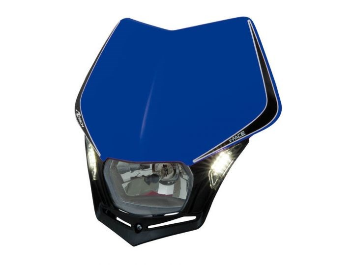 Mascherina portafaro Acerbis LED VISION HP bianco nero