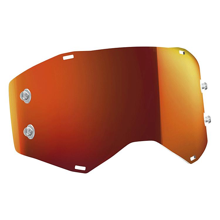 Lente di ricambio a Specchio Yellow Chrome anti fog WORKS per Scott HUSTLE TYRANT e SPLIT