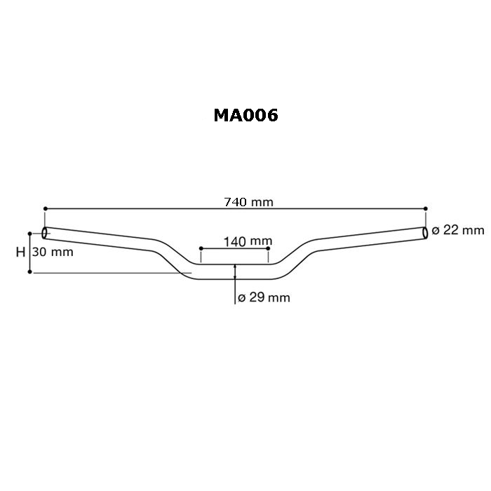 Manubrio Rizoma a sezione variabile 22-29 in Ergal MA006 3