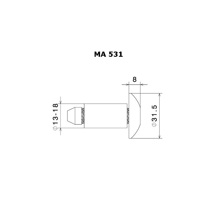 Terminali manubrio Rizoma (tappi) cod.MA531 2