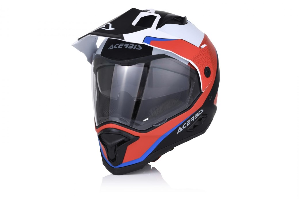 Casco integrale dual road Acerbis REACTIVE giallo fluo