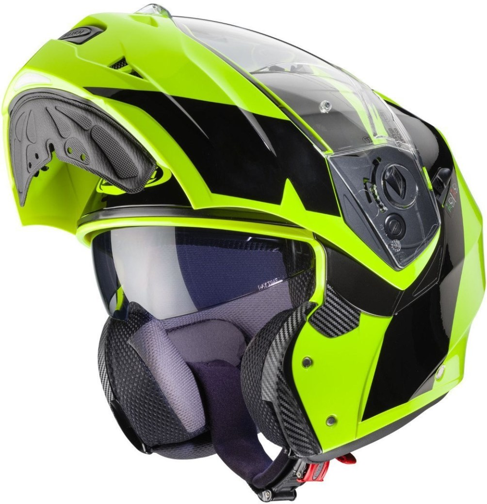 Casco modulare Caberg DUKE II Impact Yellow Fluo Black 2